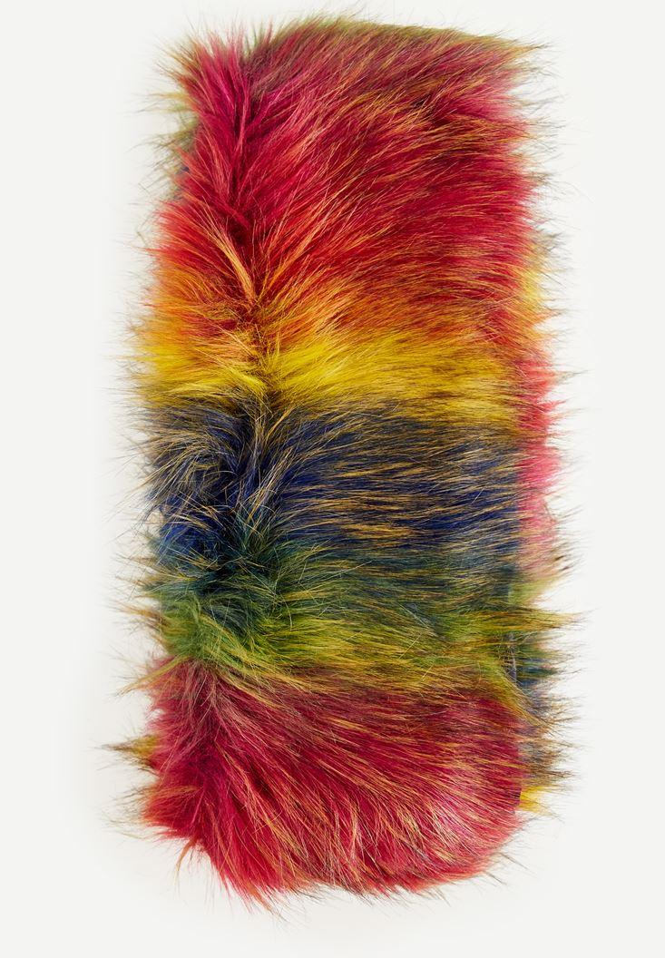 Mixed Fake Fur Colorful Shawl