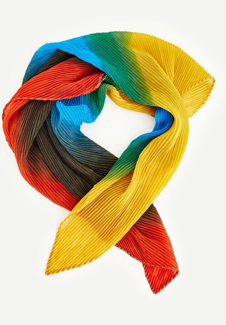Bayan Turuncu Çok Renkli Fular