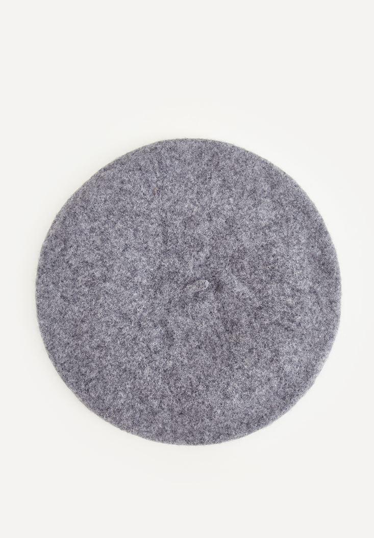 Grey Hat With Metal Ring Detail