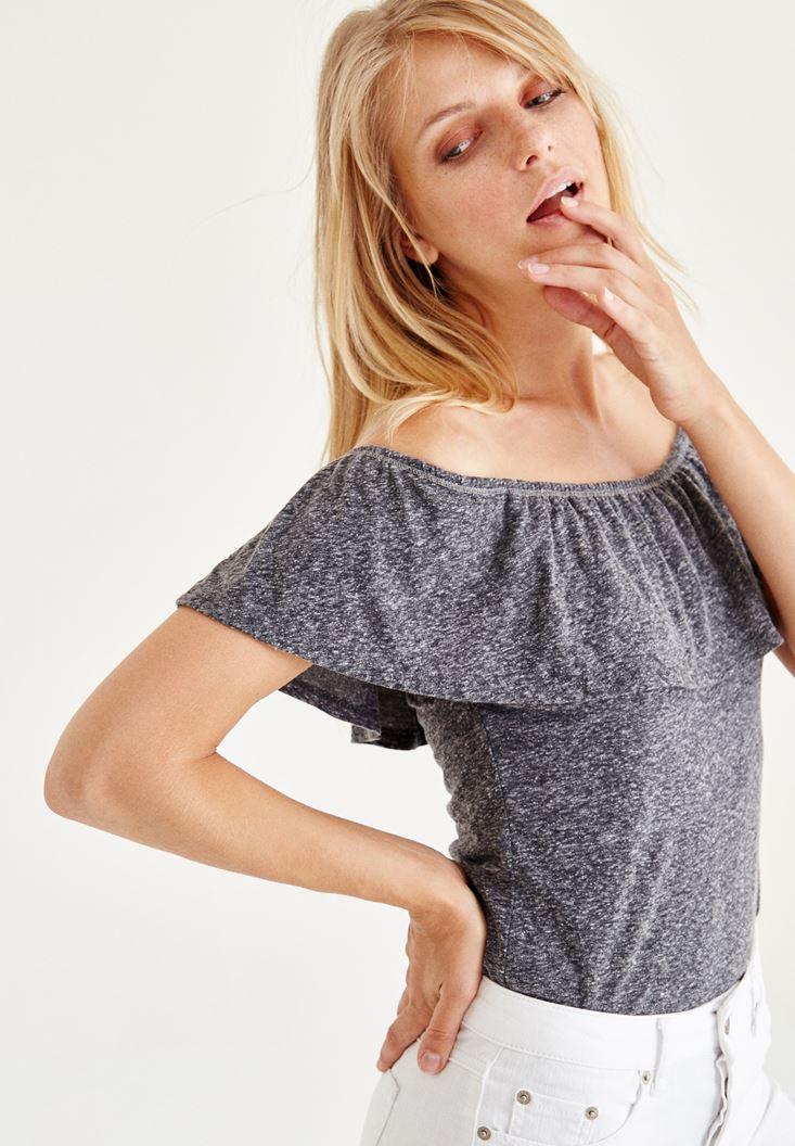 Black Strapless Off The Shoulder Blouse