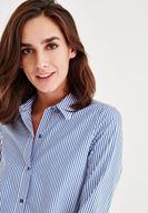 Bayan Çok Renkli Manşet Detaylı Gömlek