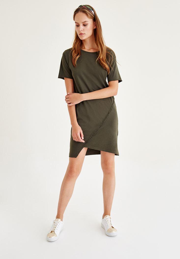 Yeşil Asimetrik Elbise