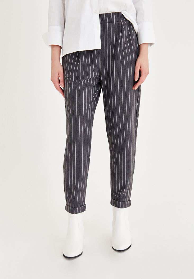 Mixed Pants With Stripes