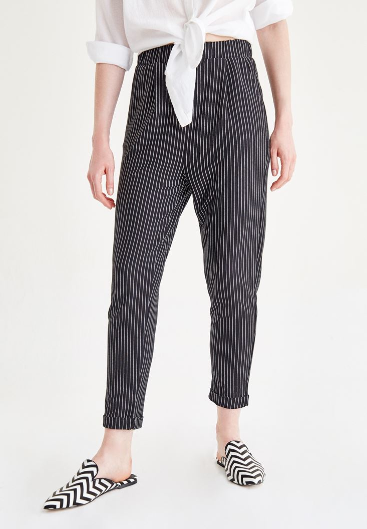 Mixed Striped Pants