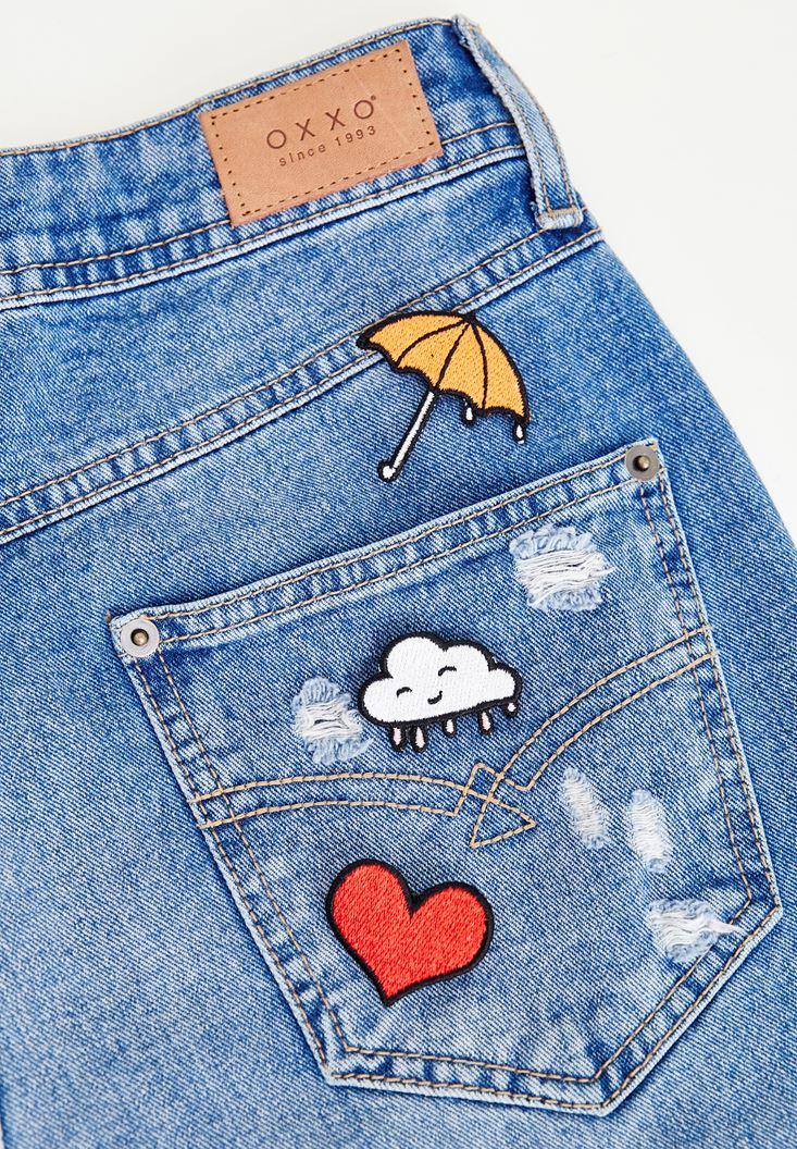 Bayan Çok Renkli Yağmur Rozet