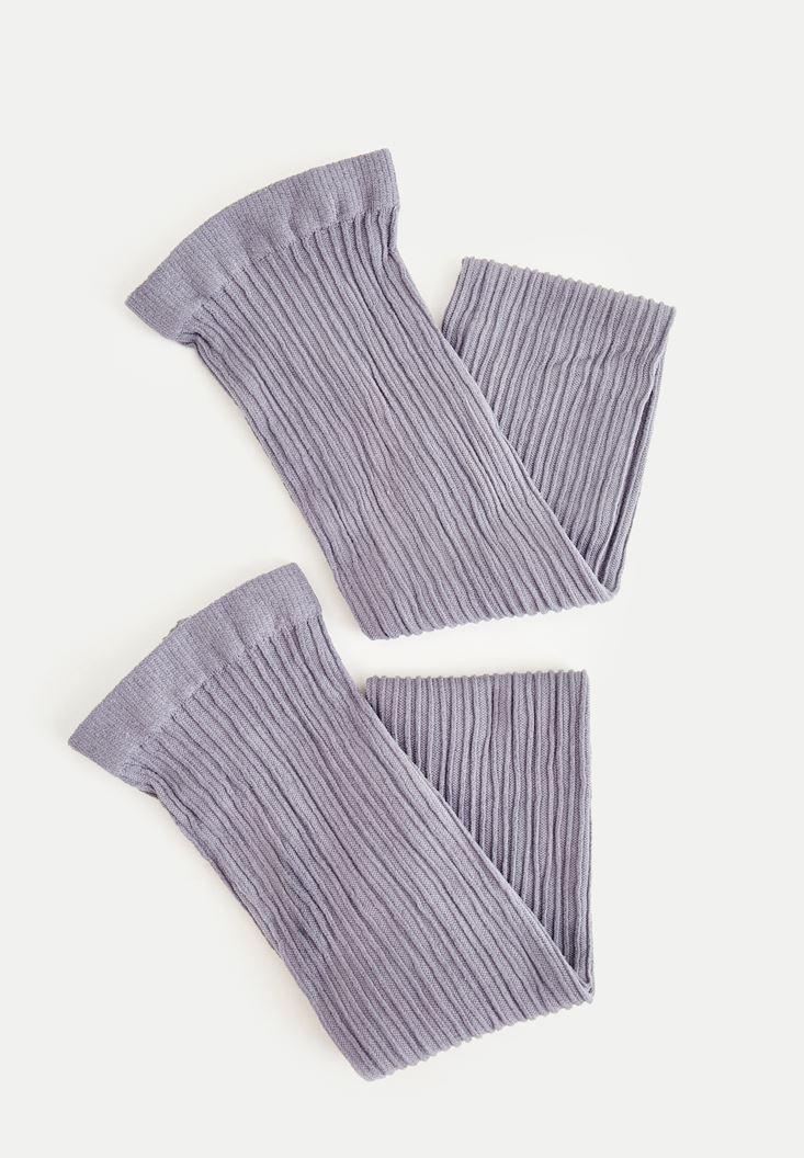 Gri Uzun Dokulu Çorap