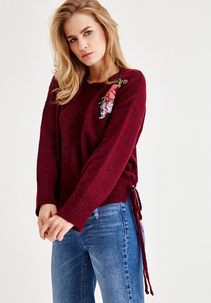 Bordeaux Embroidered Pullover