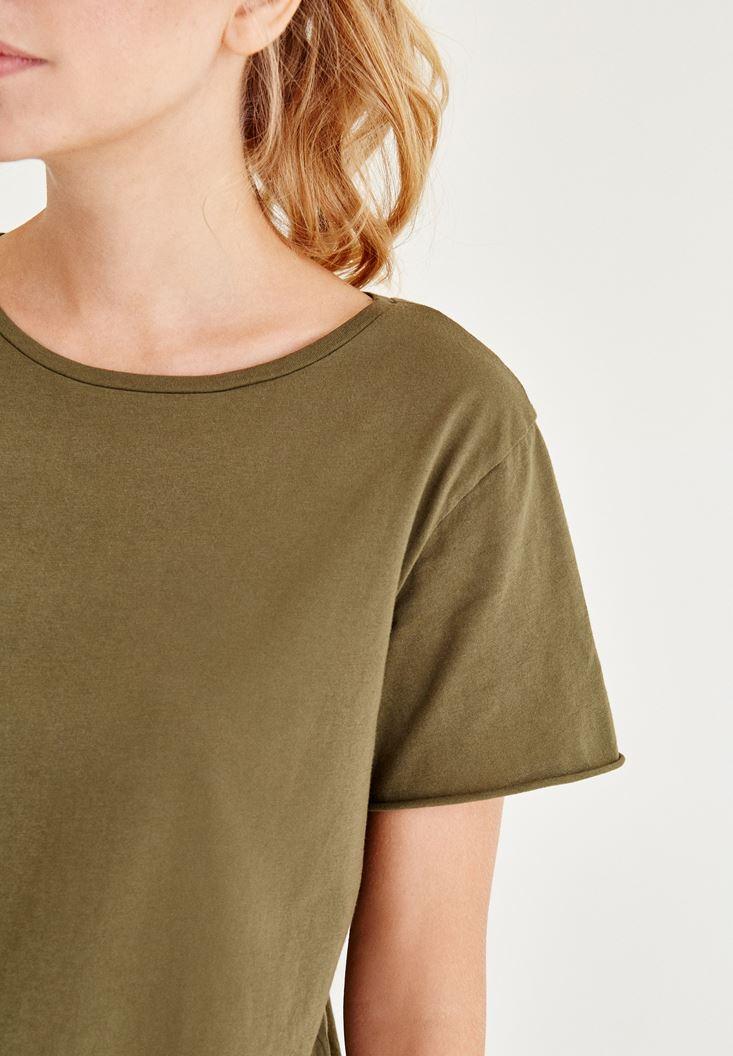 Bayan Yeşil Uzun Tişört