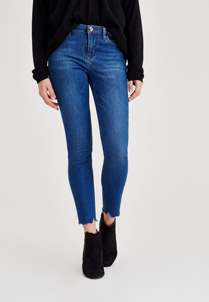 Blue Low Rise Skinny Denim