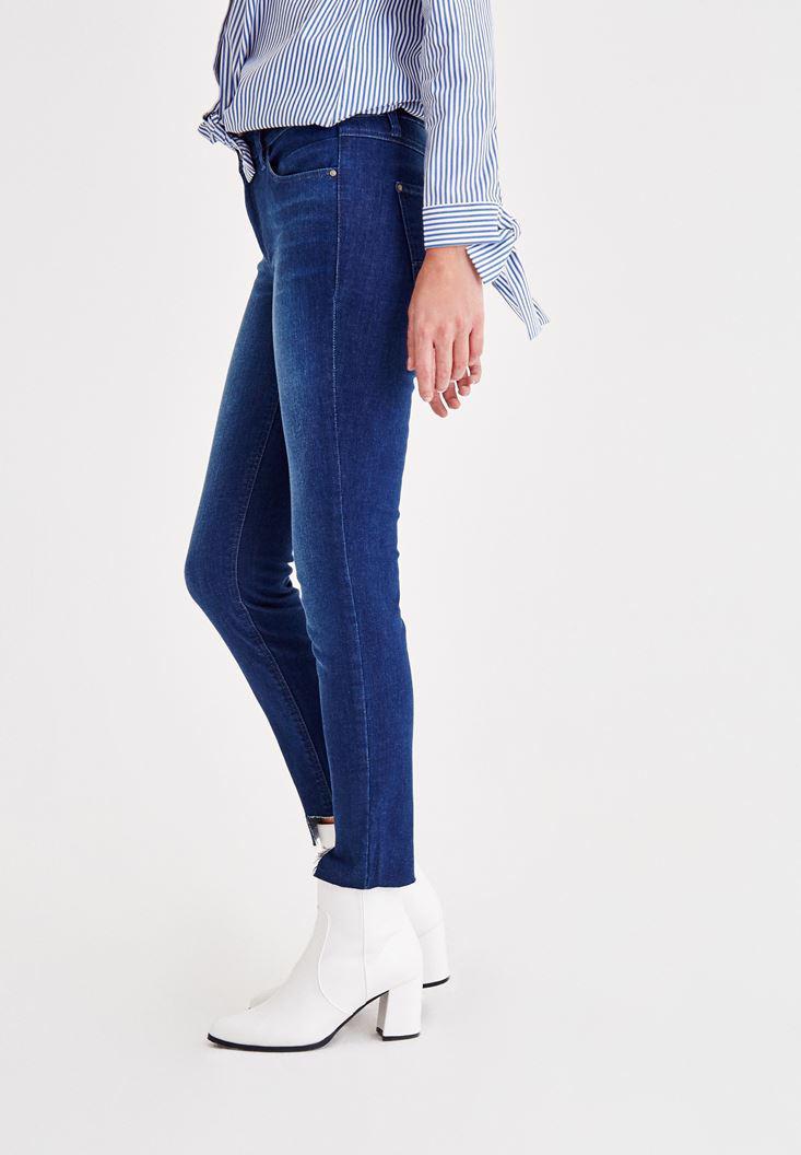 Women Blue Mid Rise Jeans