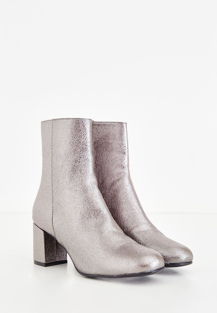 Grey Shiny Boot