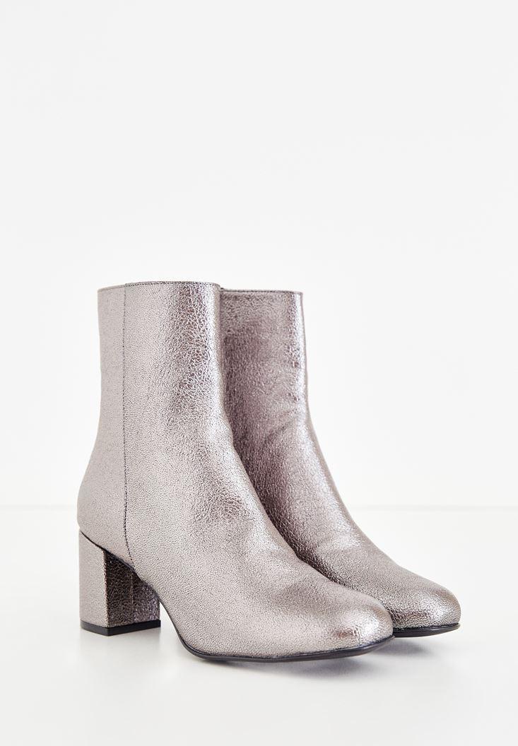 Grey Shiny Boot
