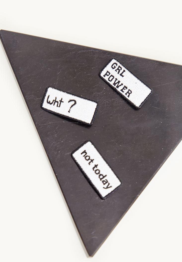 Mixed Slogan Detailed Pin