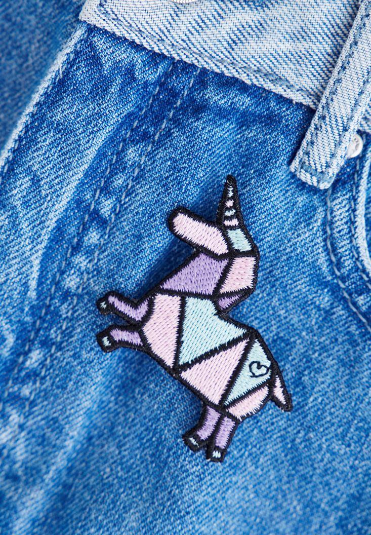 Bayan Çok Renkli Unicorn Rozet