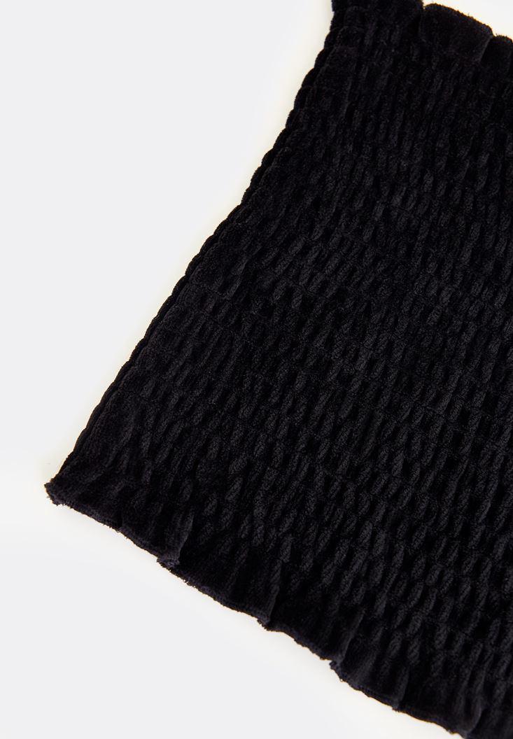 Bayan Siyah Kadife Korse