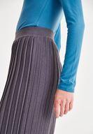 Bayan Gri Pilili Bol Pantolon