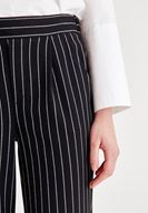 Women Black Pants With Striped Detailed