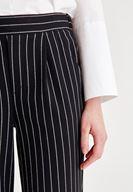 Bayan Çok Renkli Çizgi Detaylı Cepli Pantolon