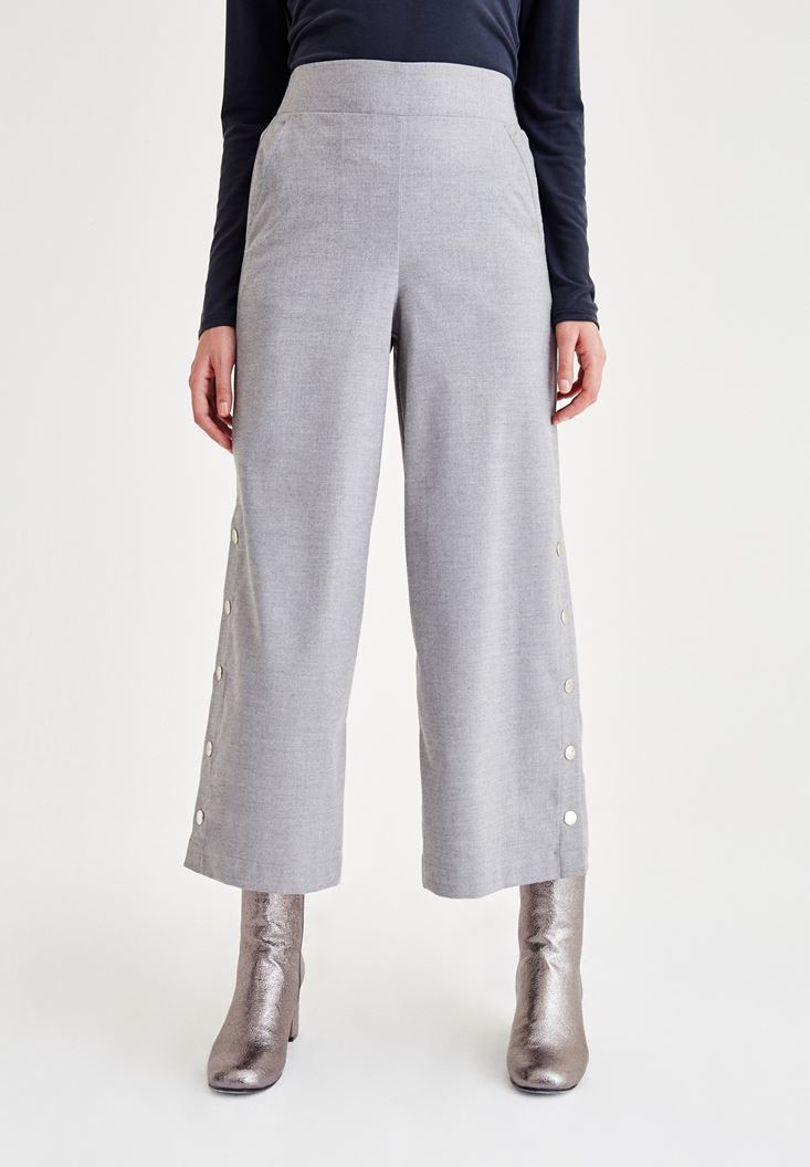 Grey Bell Bottomed Trousers