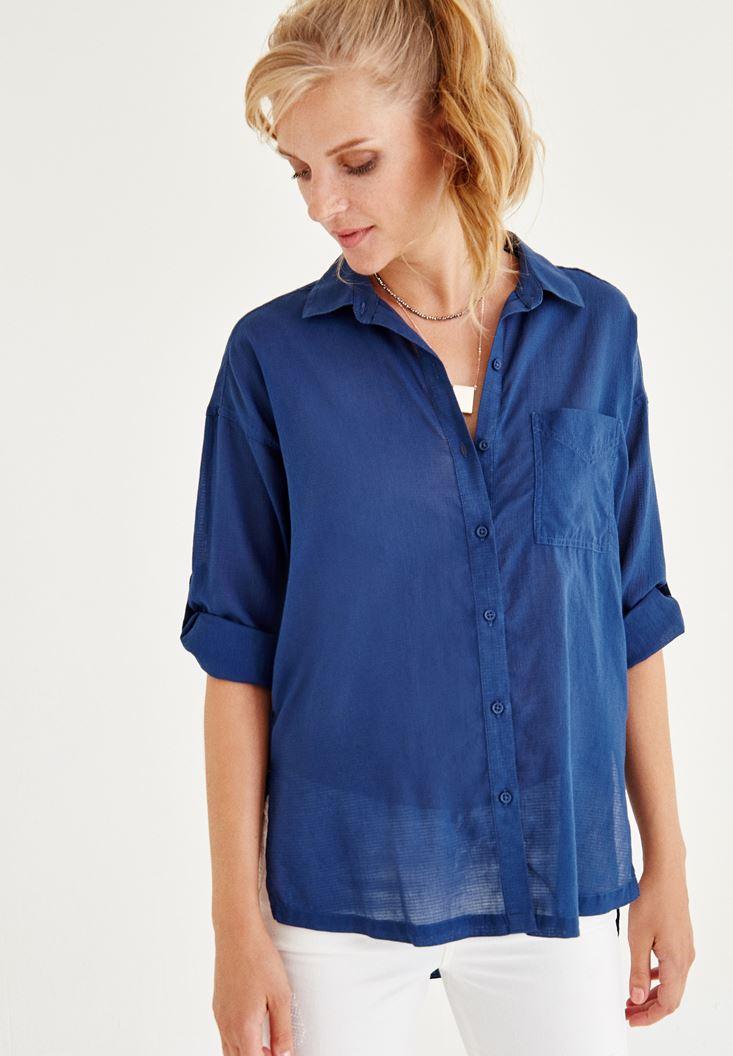 Cep Detaylı Gömlek OXXO