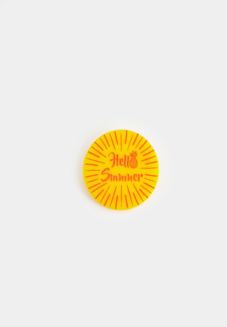 Yellow Hello Pin