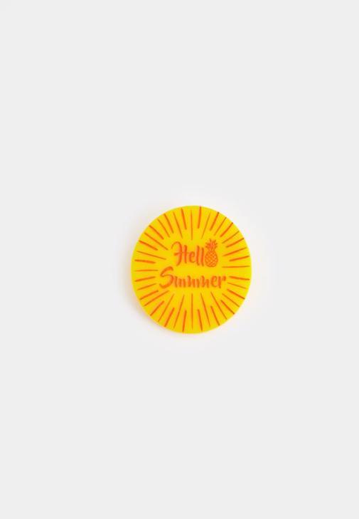 Sarı Yuvarlak Rozet