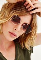 Bayan Kahverengi Geometrik Çerçeveli Gözlük