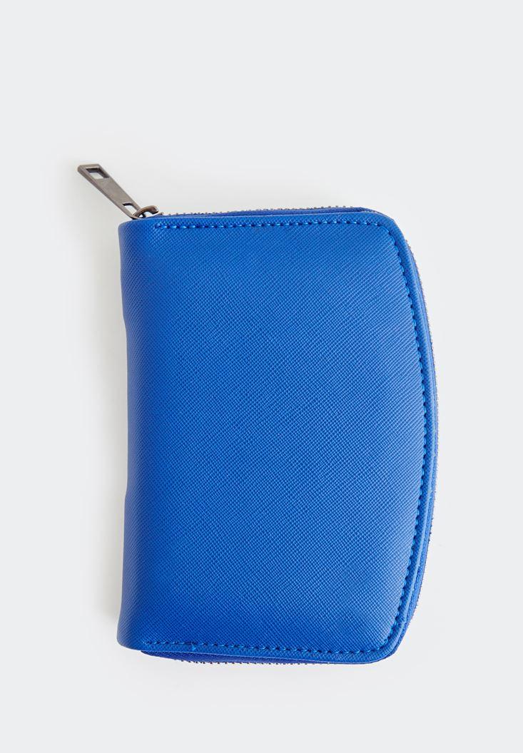Blue Textured Purse