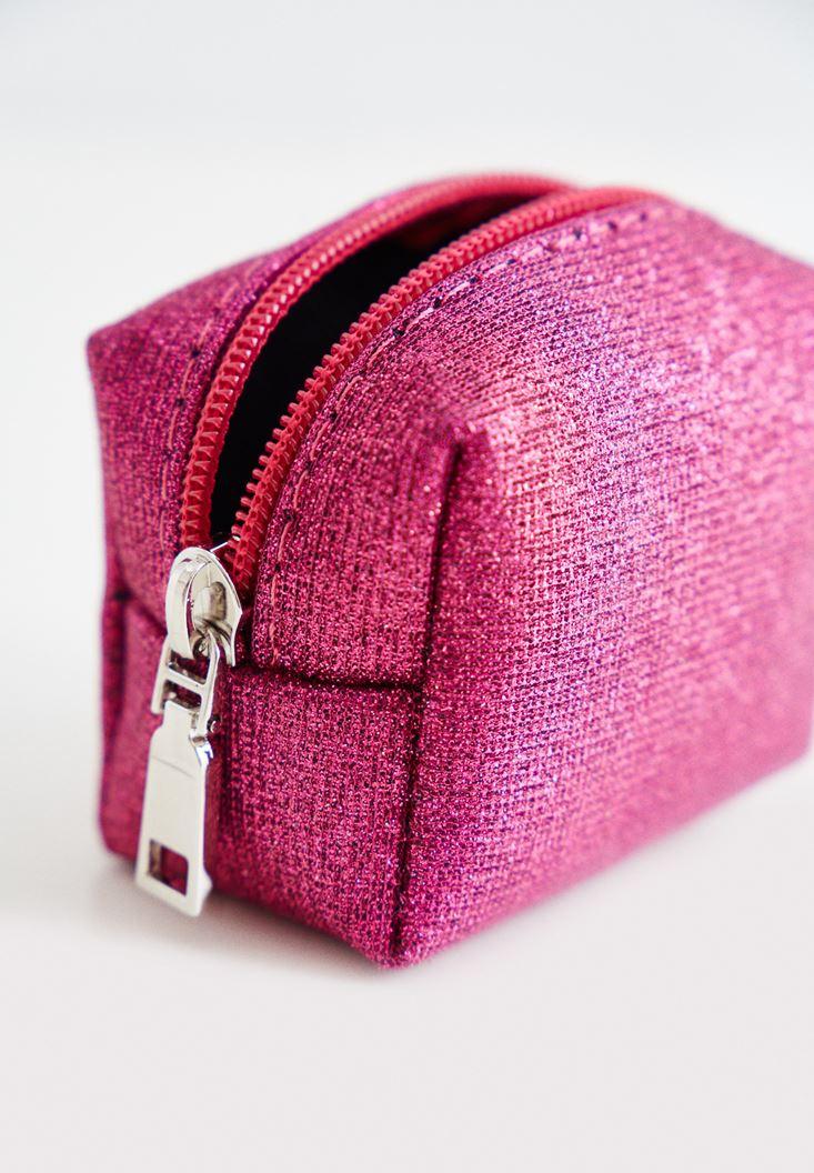 Pink Silvery Mini Purse