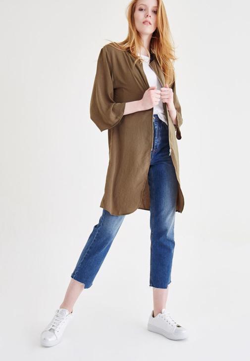 Yeşil Uzun Ceket