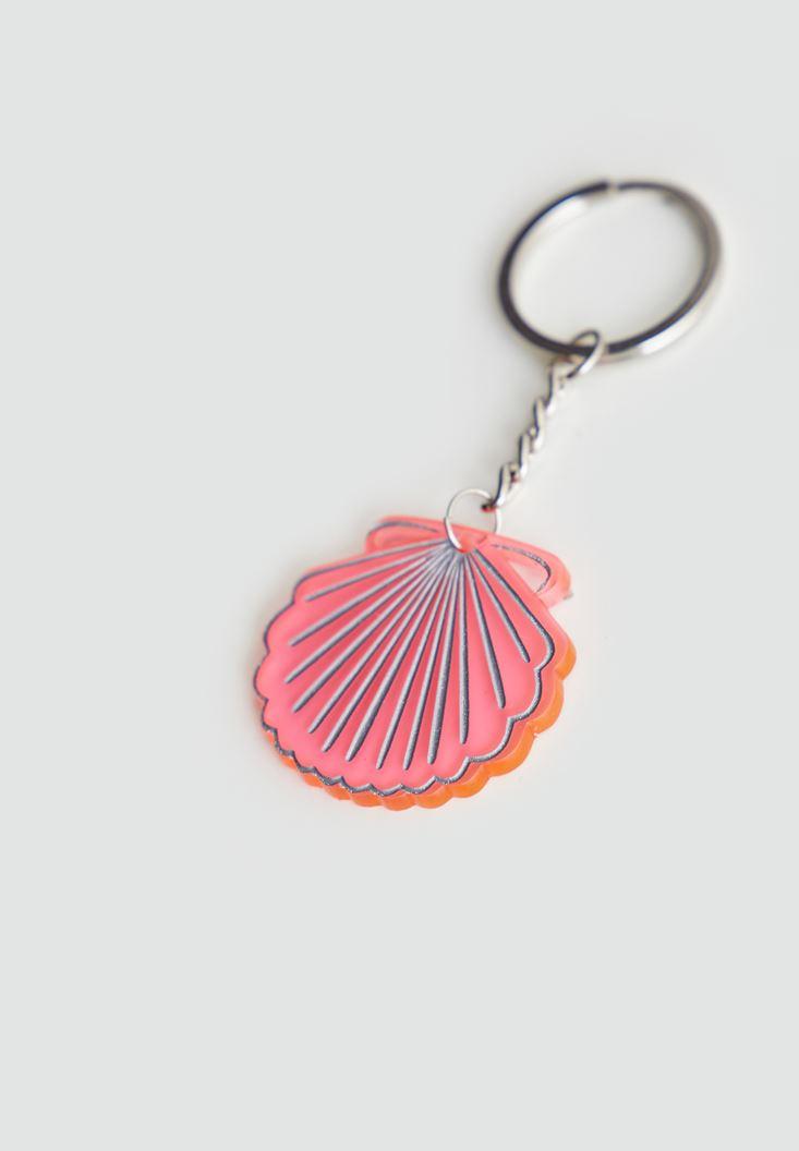 Bayan Çok Renkli Deniz Kabuğu Anahtarlık