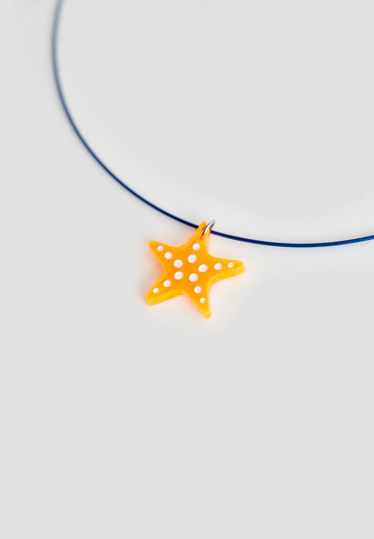 Bayan Çok Renkli Deniz Yıldızı Kolye