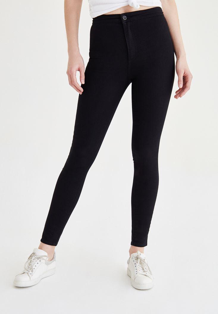 Siyah Ultra Yüksek Bel Skinny Pantolon