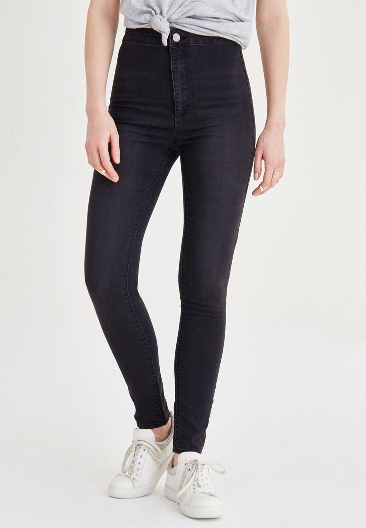 Grey Ultra High Rise Skinny Pants