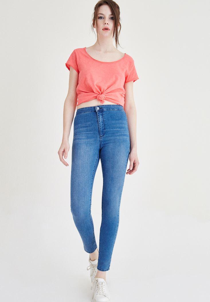 Mavi Ultra Yüksek Bel Skinny Pantolon