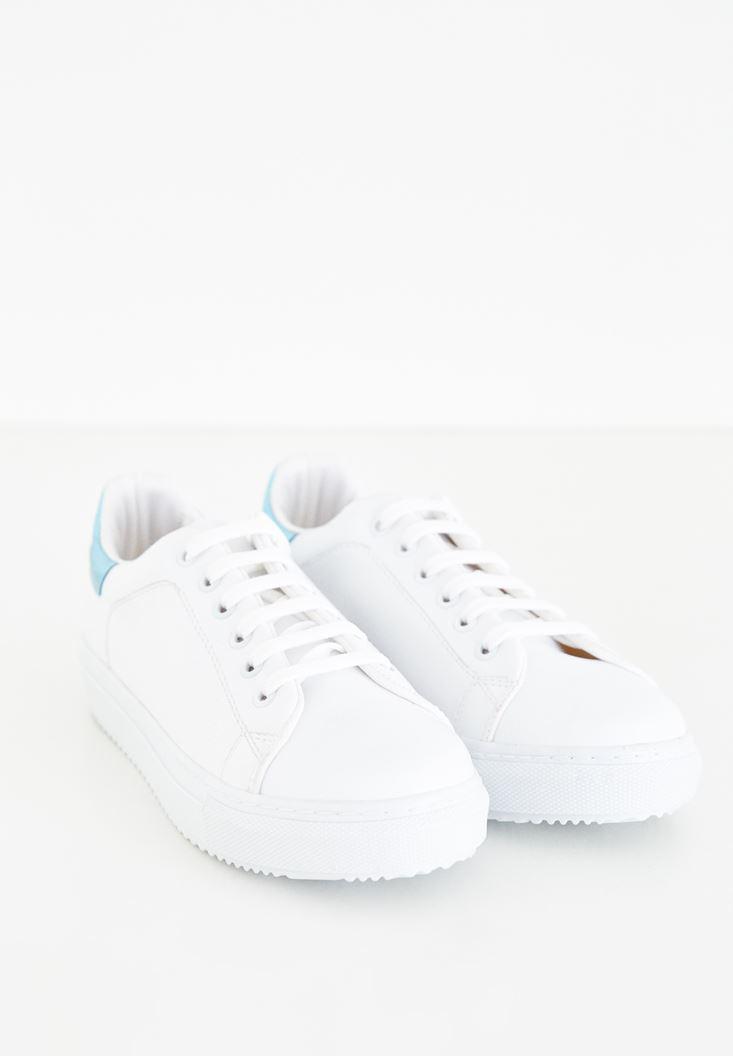Çok Renkli Bağcıklı Spor Ayakkabı