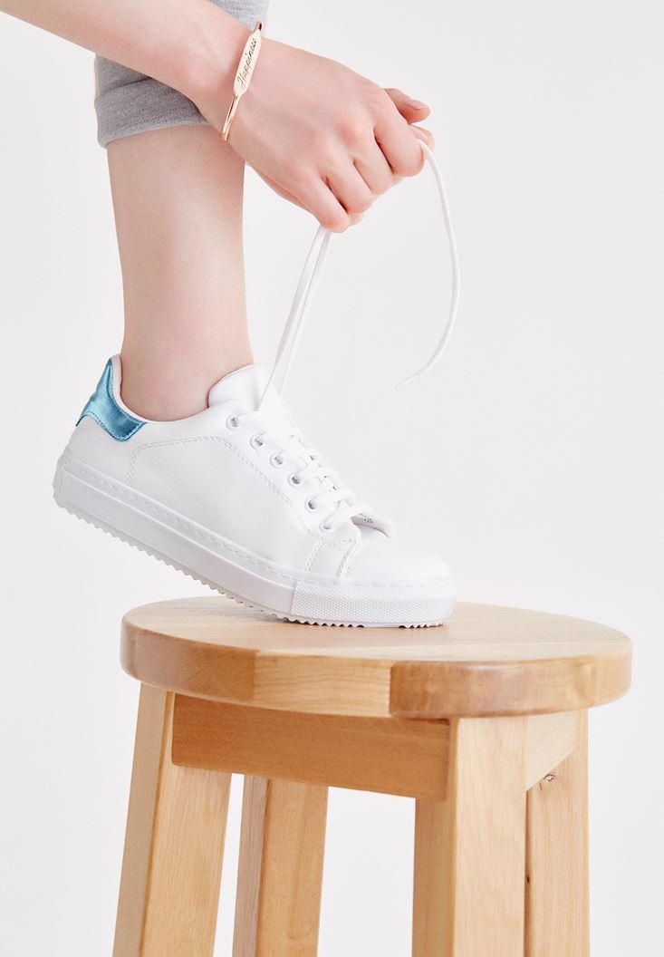 Bayan Çok Renkli Bağcıklı Spor Ayakkabı