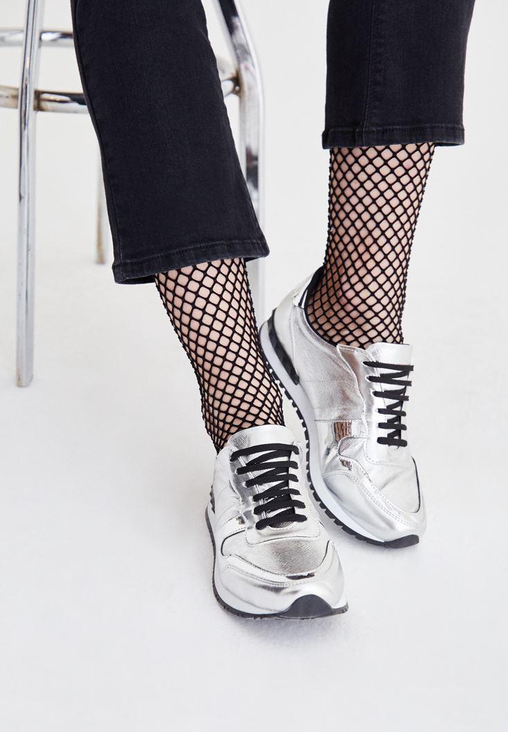 Gri Bağcıklı Spor Ayakkabı
