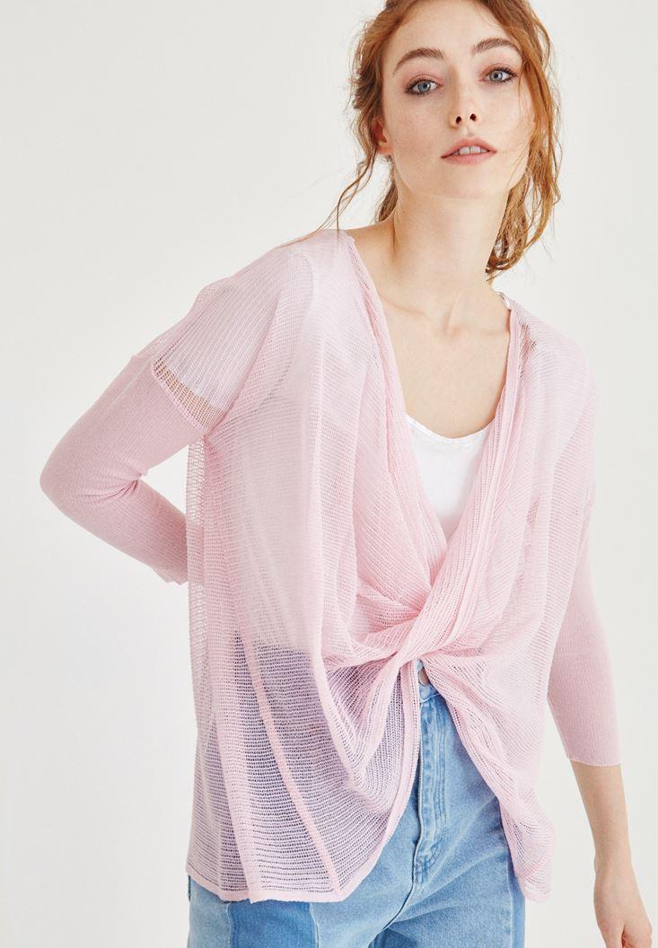 Pink Mesh Blouse
