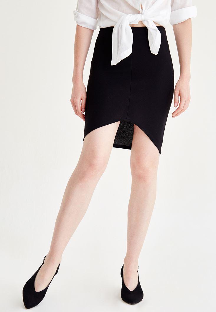 Bayan Siyah Mini Etek