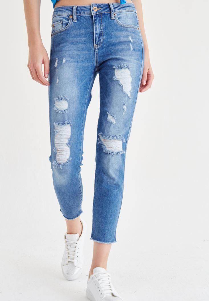 Blue Slim Boyfriend Jeans
