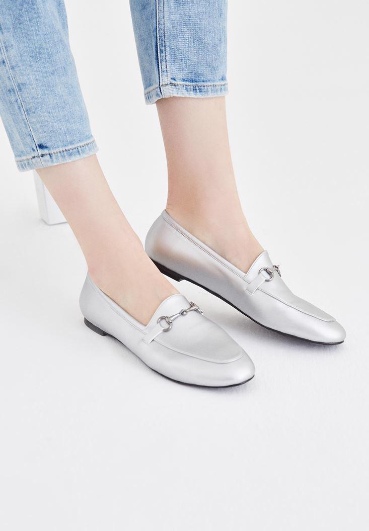 Kadın Gri  Makosen Ayakkabı
