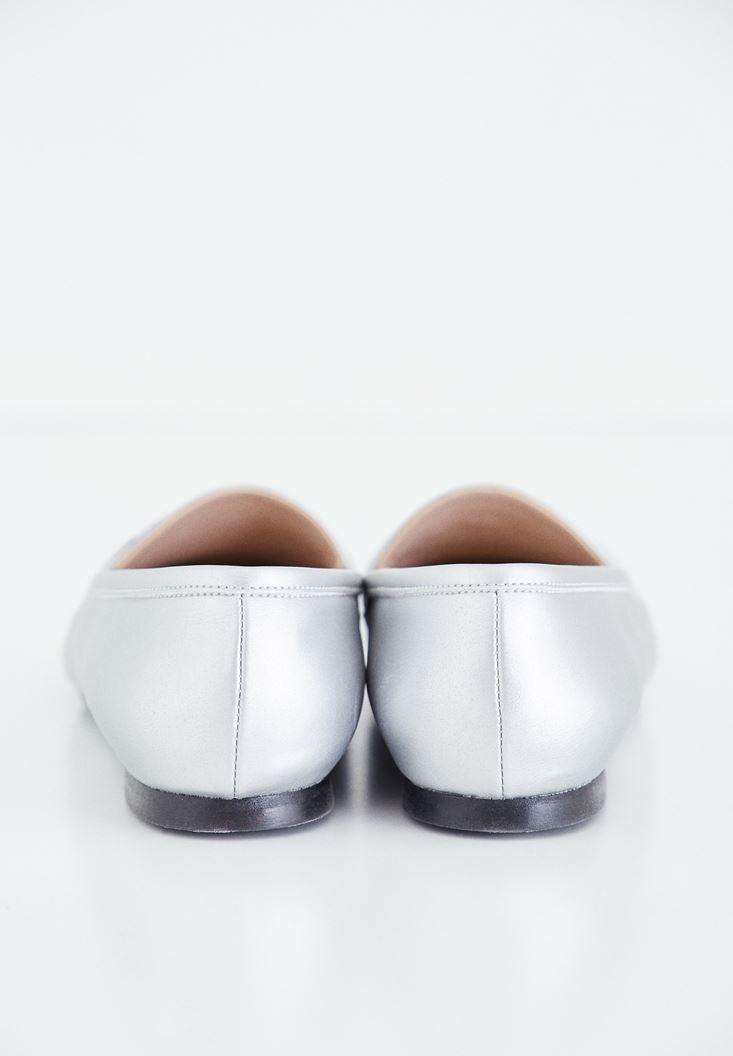 Bayan Gri Makosen Ayakkabı