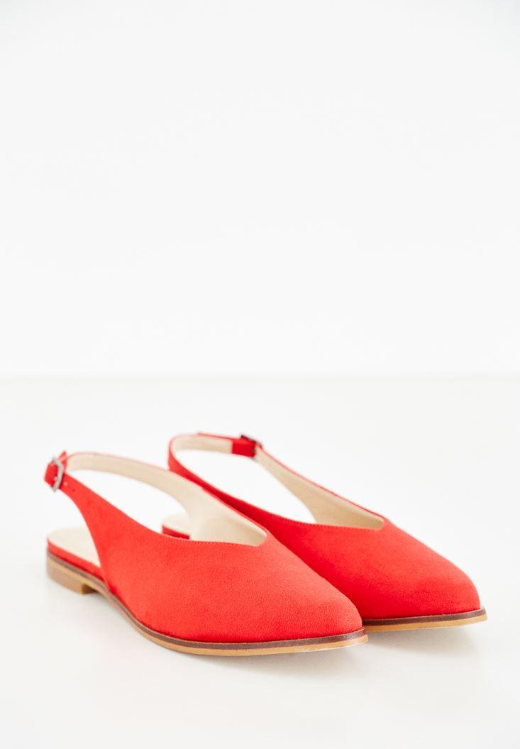 Kırmızı Arkası Açık Ayakkabı