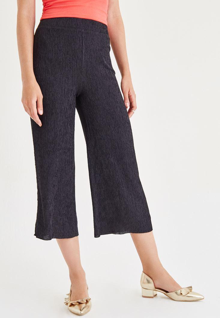 Bayan Siyah Bol Pantolon