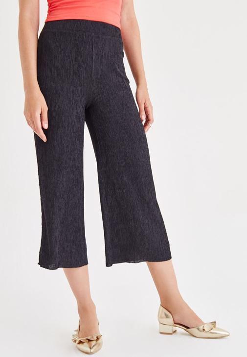 Siyah Bol Pantolon