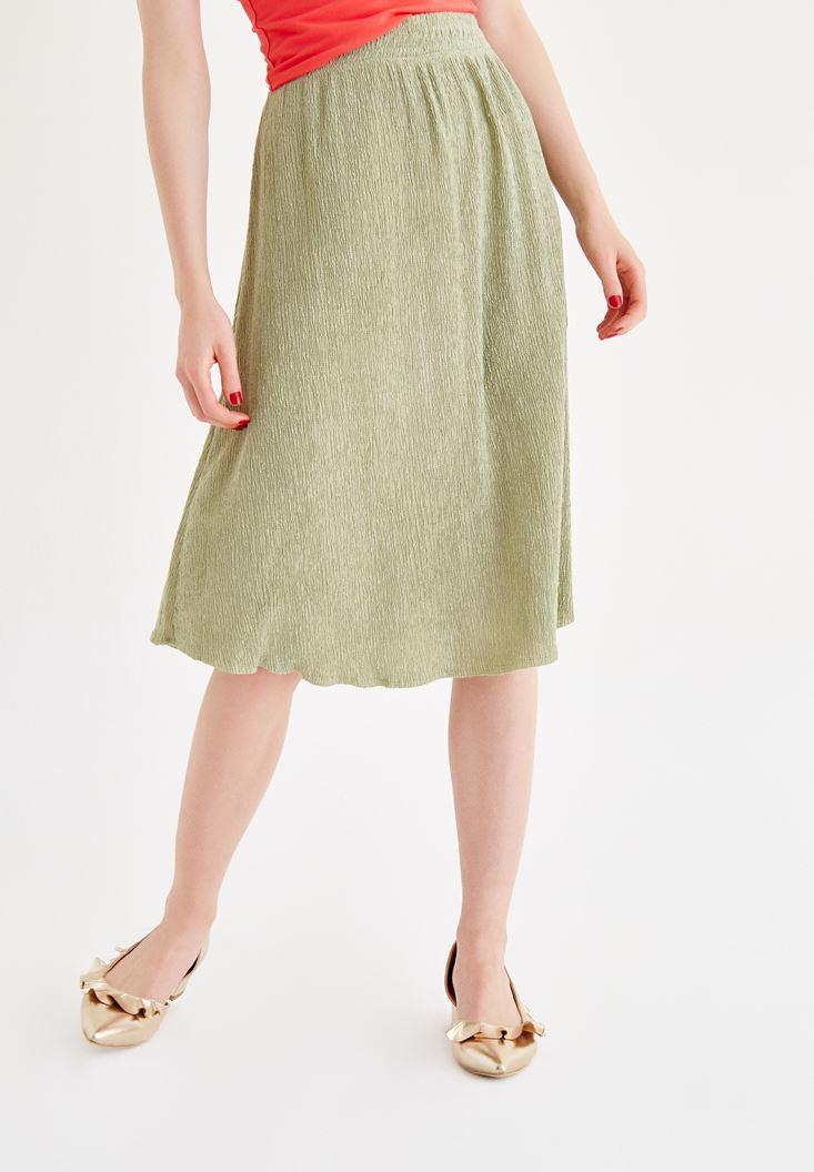 Bayan Yeşil Kloş Etek
