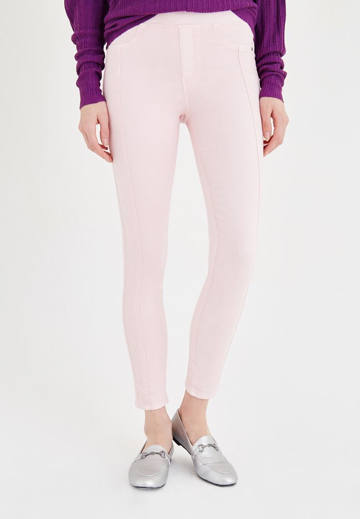 Pink Low Rise Jegging