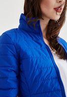 Women Blue Zippered Detailed Coad