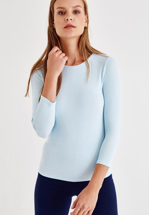 Mavi Truvakar Kol Basic Tişört